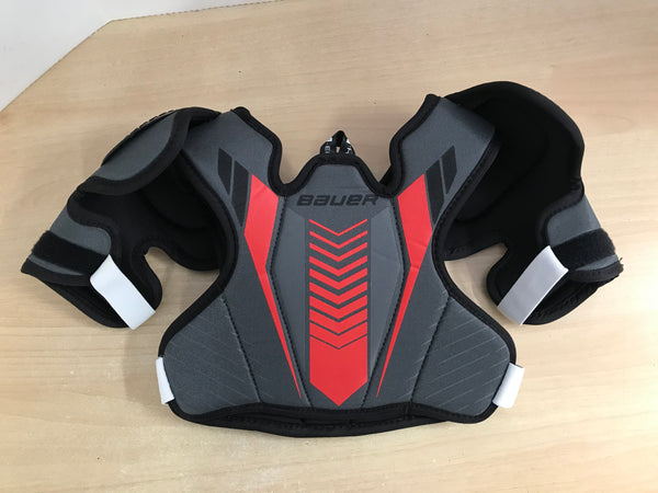 Hockey Shoulder Chest Pad Child Size Y Medium 5-7 Bauer Sport  Red Black Excellent