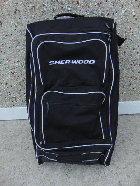 Hockey Bag Sherwood Grit Style Youth On Wheels Black Minor Use