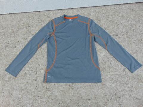Hockey Base Layer Long Johns Shirt Child Size Junior 10-12 Grey