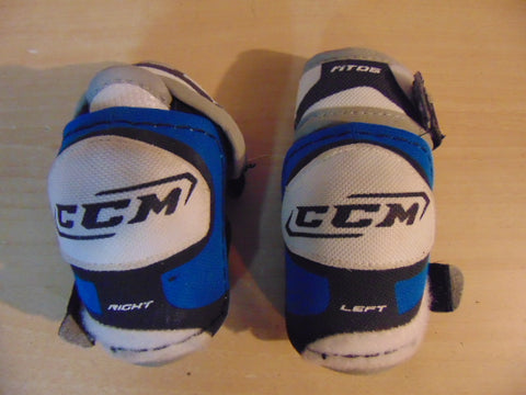 Hockey Elbow Pad Child Size Y Small Age 3-4 CCM Fit Blue Grey