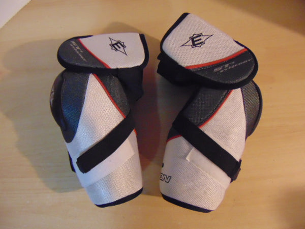 Hockey Elbow Pad Men's Size Large Easton Grey White Excellent