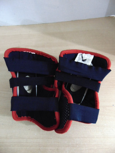Hockey Elbow Pads Men's Size Small Red Navy Excellent
