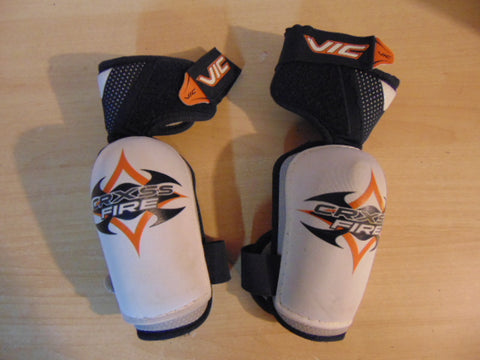 Hockey Elbow Pads Child Size Junior Large Vic White Blue