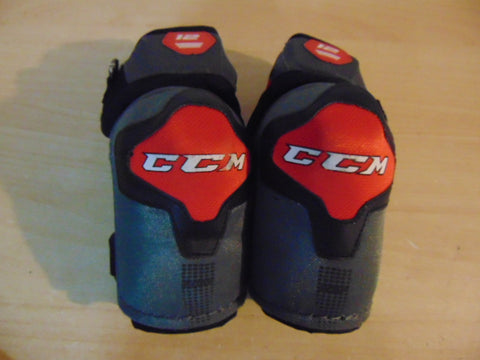 Hockey Elbow Pads Child Size Junior Medium CCM U Grey Red Excellent