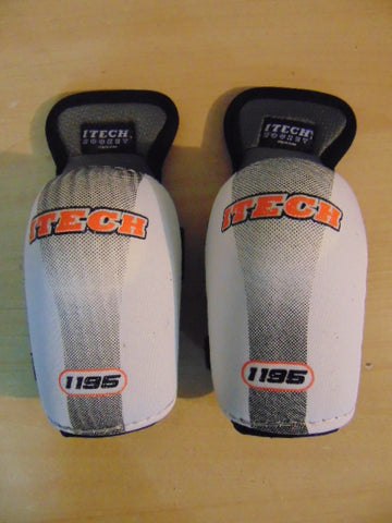 Hockey Elbow Pads Child Size Junior Small 6-8 Itech White Grey