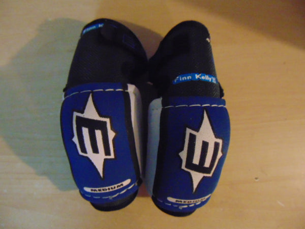 Hockey Elbow Pads Child Size Y Medium 4-6 Easton Blue Grey Excellent