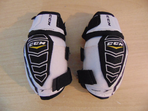 Hockey Elbow Pads Child Size Y Medium 4-6 White Black