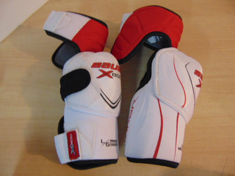 Hockey Elbow Pads Men's Size Large Bauer 800 White Red