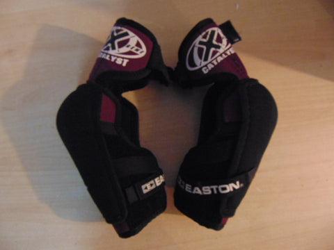 Hockey Elbow Pads Men's Size Large Easton Black Burgundy