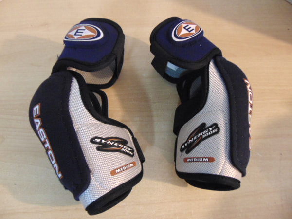 Hockey Elbow Pads Men's Size Medium Easton Blue White