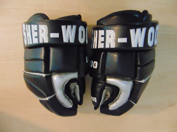 Hockey Gloves Men's Size 13 inch Sherwood Black White Excellent