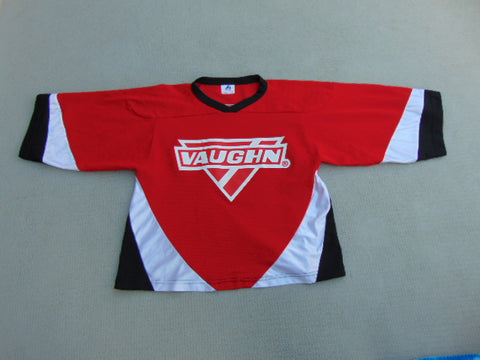 Hockey Goalie Jersey Child Size Youth Large Vaughn Red White Black Age 5-6