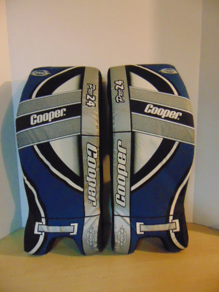 Hockey Goalie Street Hockey 24 inch Child Pads Cooper Denim Blue Grey Excellent