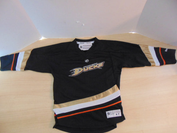 Hockey Jersey Child Size 4-7 Reebok Anaheim Ducks Selanne Black Gold