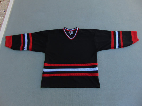Hockey Jersey Men's Size Medium Victoria Salsa Black White Red Practice Jersey