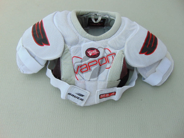 Hockey Shoulder Chest Pad Child Size Junior Large Bauer Vapor White Red