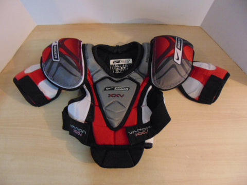 Hockey Shoulder Chest Pad Child Size Junior Medium Bauer Nike Vapor XXV Black Red