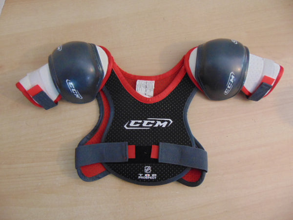 Hockey Shoulder Chest Pad Child Size Y Medium Age 4-5  CCM Top Prospect Red Grey NEW Demo Model