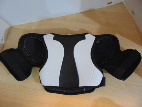 Hockey Shoulder Chest Pad Child Size Youth S-M Age 3-4 Vic  Black White