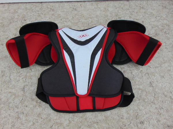 Hockey Shoulder Chest Pad Men's Size Small Bauer Vapor X.20 Black White Red
