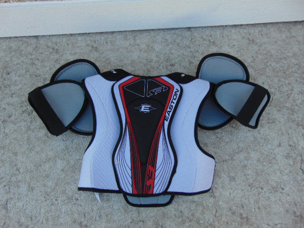 Hockey Shoulder Chest Pad Men's Size Small Easton Stealth Black Red White