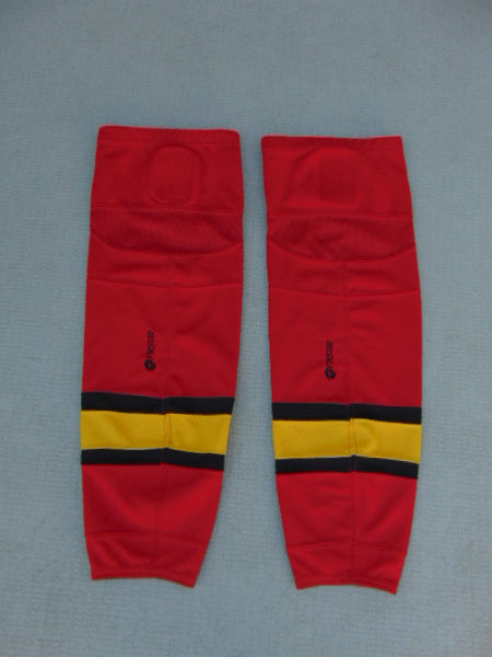 Hockey Socks Child Size 26 inch Junior Firstar Edge Red Black Yellow Minor Wear
