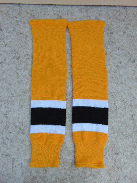 Hockey Socks Men's Size 30 inch Gold Black White