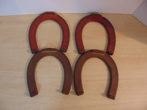 Horseshoe Set Vintage Heavy Adult Cast Iron