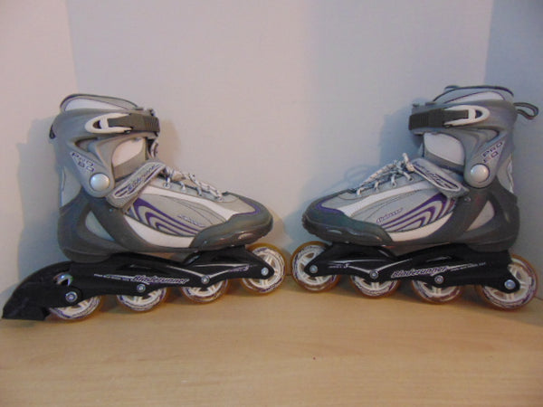 Inline Roller Skates Ladies Size 10 Bladerunner Grey Purple Fantastic Quality