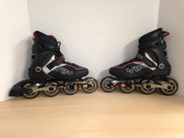 Inline Roller Skates Men's Size 7 K-2 Moto Black Red As New Outstanding Quality