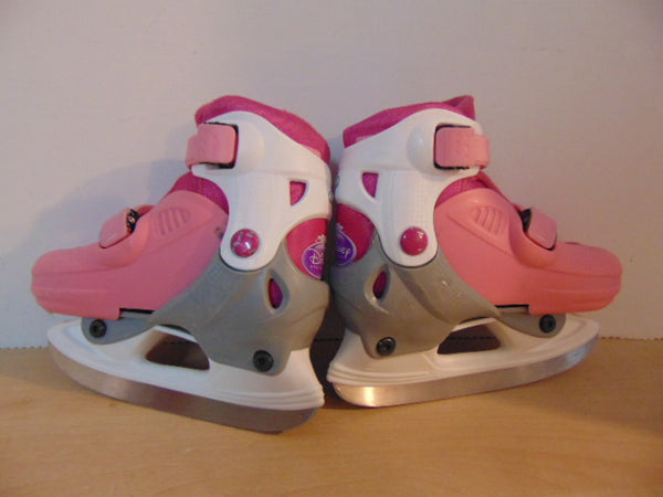 Ice Skates Child Size 9-12 Adjustable Disney Princess Pink Grey White