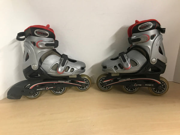 Inline Roller Skates Child Size 10-12 Adjustable Firefly Minor Wear