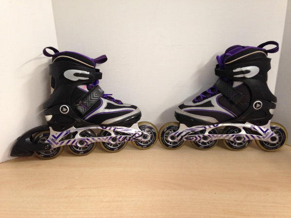 Inline Roller Skates Ladies Size 6 K-2 Helena Purple and Grey