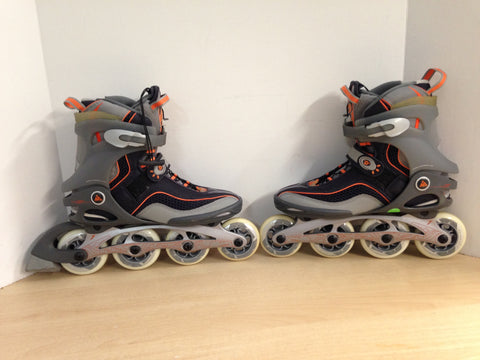 Inline Roller Skates Ladies Size 9.5 K-2 Athena 6.1 Grey Orange New Demo Model