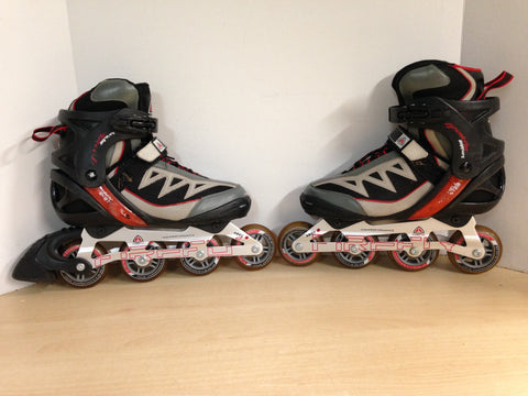 Inline Roller Skates Men's Size 8 Firefly Black Red