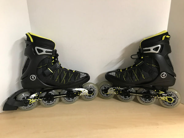 Inline Roller Skates Men's Size 9 K-2 Power Black Yellow Rubber Wheels New Demo Model