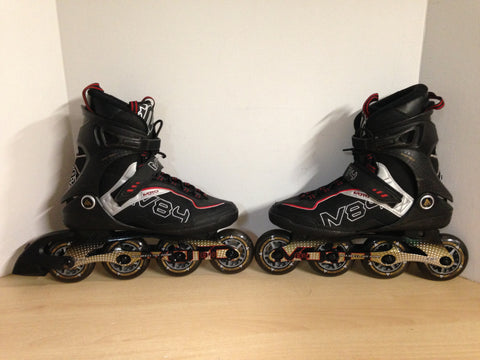 Inline Roller Skates Men's Size 9 k-2 Black Red Gold  Rubber Tires