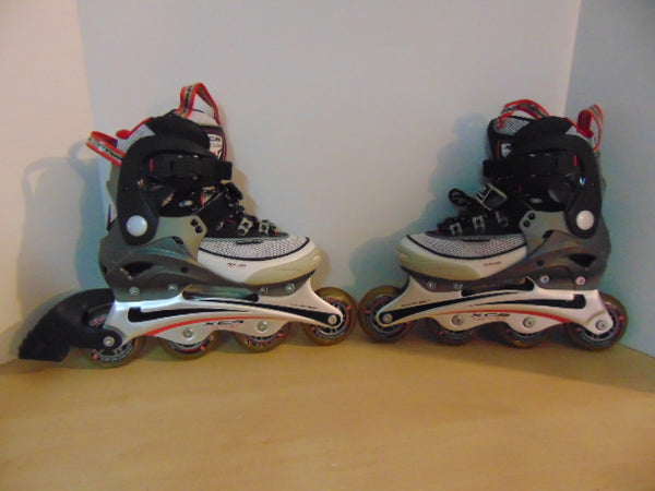 Inline Roller Skates Child Size 5-6  Youth Vortex Black Red Grey