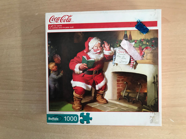 Jigsaw Puzzle 1000 pc Buffalo Coca Cola A Gift For Santa