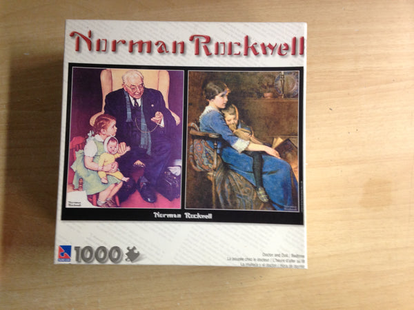 Jigsaw Puzzle 1000 pc Norman Rockwell Doctor and Doll