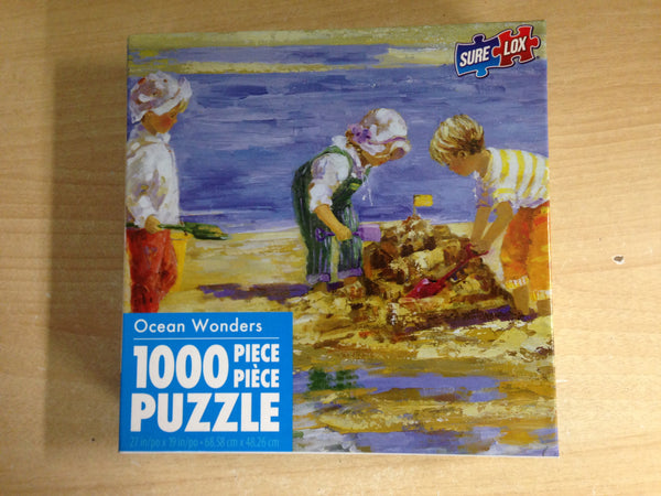 Jigsaw Puzzle 1000 pc Ocean Wonders Sand Castle Day