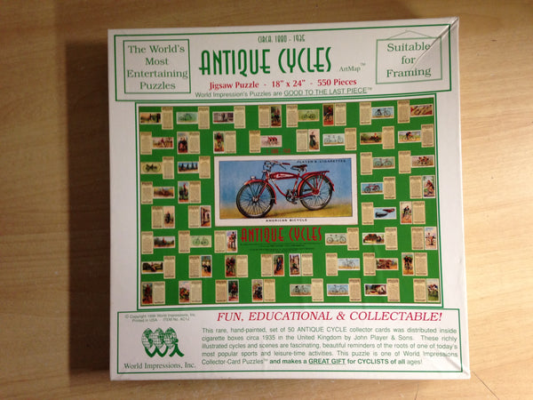 Jigsaw Puzzle 550 pc Antique Cycles The Worlds Most Entertaining Puzzle Excellent