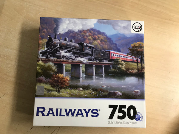 Jigsaw Puzzle 750 pc Railways Excellent RB 0899