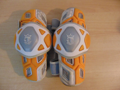 Lacrosse Elbow Pads Men's Size Small Brine King Orange and Grey Fantastic Quality Minor Wear