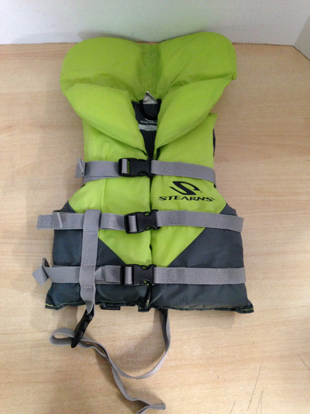 Life Jacket Child Size 30-60 Lb Stearns Apple Green Excellent