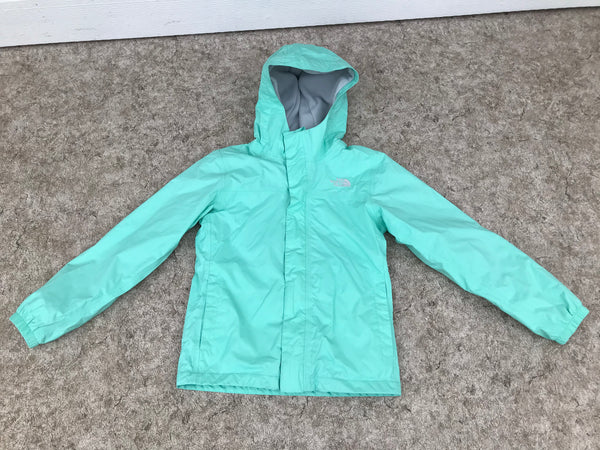 Light Coat Child Size 7-8 The North Face Black Grey Lime Micro Fleece Inside