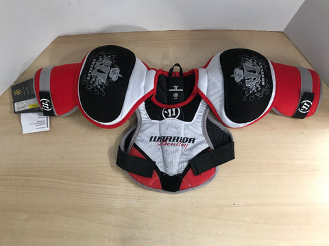 Lacrosse Chest Pad Child Size Y Medium 8-10 Warrior Bently New With Tags Red Black