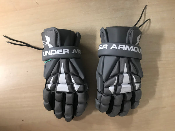 Lacrosse Gloves Child Size X Large Youth Under Armour Grey White Excellent As New