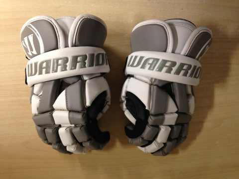 Lacrosse Gloves Men's Size Small 12 inch Warrior Grey White Excellent