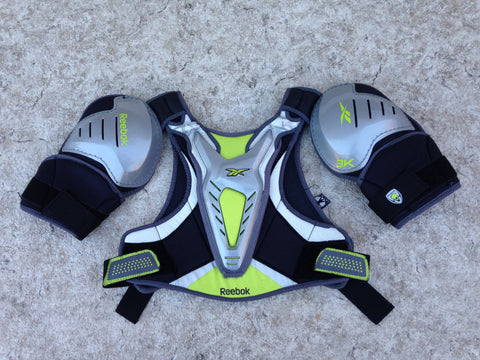 Lacrosse Shoulder Chest Pad Men's X Small - Small Reebok Grey Lime Black Minor Wear